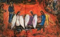 Abraham en de drie engelen (Marc Chagall)